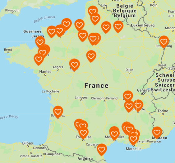 carte des actions