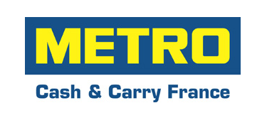 Logo METRO bords blancs